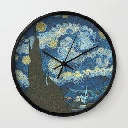 Swirly Night Wall Clock