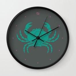 Cancer Zodiac / Crab Star Sign Poster Wall Clock