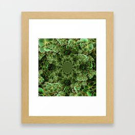 SEA FOAM FROTHY BLUE-GREEN SUCCULENTS Framed Art Print