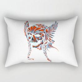 Death Flying Skull Rectangular Pillow