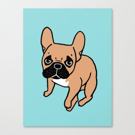 The Cute Black Mask Fawn French Bulldog Needs Some Attention Canvas Print