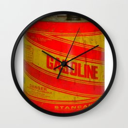gasoline vintage stancan old can Wall Clock