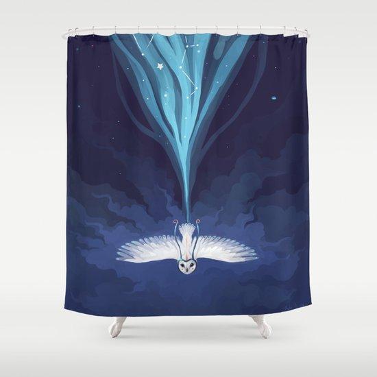 Night Owl 2 Shower Curtain
