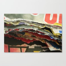 paper layers Canvas Print