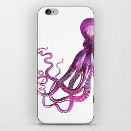 pink Octopus unique underwater creature iPhone Skin