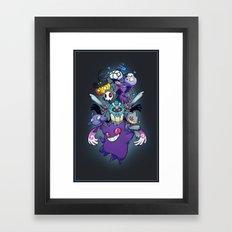 Ghost Type Framed Art Print