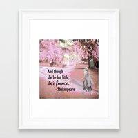 fierce Framed Art Prints featuring Fierce by Tiffany Dawn Smith