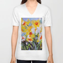 Daffodil Tangle Unisex V-Neck