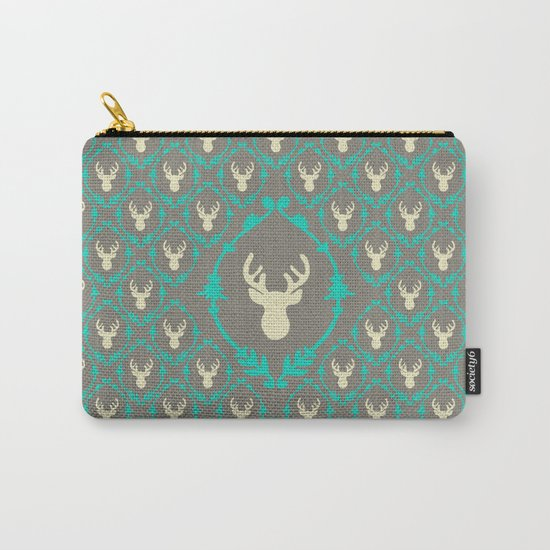 Oh Deer (white) Carry-All Pouch