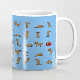 Sausage the Dog: Blue Print Coffee Mug