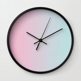 Pink Blue Gradient Wall Clock