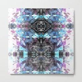 Geometric Digital Watercolor Metal Print