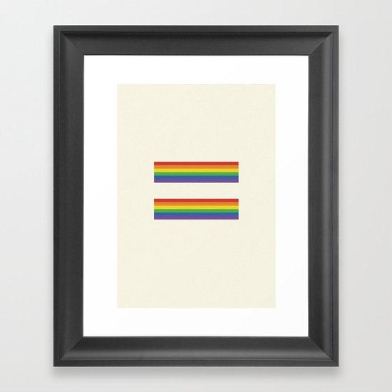 Equalities of the rainbow  Framed Art Print