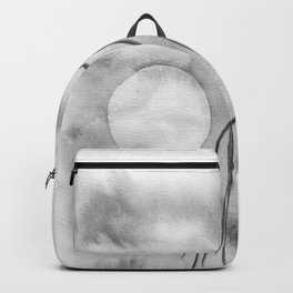 Light moon, a minimal watercolour in moonchrome Backpack