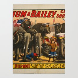 Barnum and Bailey circus the Greatest Show on Earth Poster