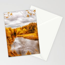 Autumn Along The River Stationery Cards