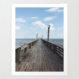 The Never Ending Pier Art Print