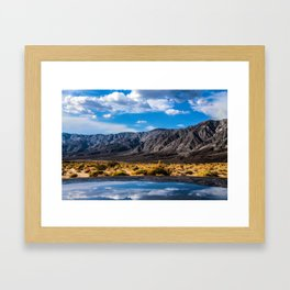 The Reflection On The Roof Framed Art Print