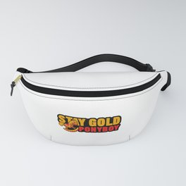 Stay Gold Pony Boy Racehorse Rocking Pony Small Horse Mustang Wildlife Animal Gift Fanny Pack
