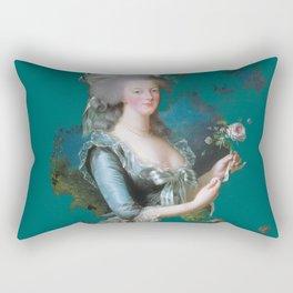 marie Antoinette teal Rectangular Pillow