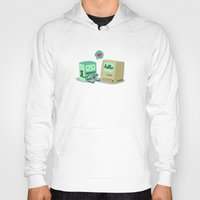bmo Hoodies featuring BMO & Macintosh by solostudio