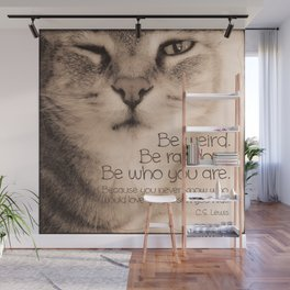 Wise Tabby Cat Wall Mural