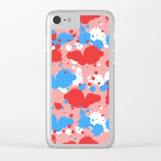 Colors Drops Clear iPhone Case