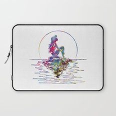 The Little Mermaid Ariel Silhouette Watercolor Laptop Sleeve