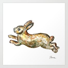 Golden Rabbit Art Print