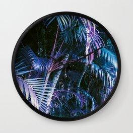Hawaii Palm Blues Wall Clock