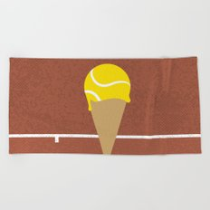 Tennis Ice Cream Beach Towel