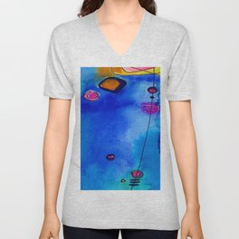 Magical Thinking No. 2C by Kathy Morton Stanion Unisex V-Neck