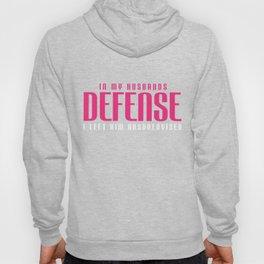 Wife T-Shirt Defend Your Husband Gift Tee Funny Wife Apparel Hoody