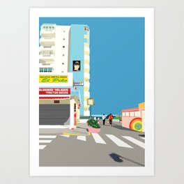 La Manga Beach Art Print