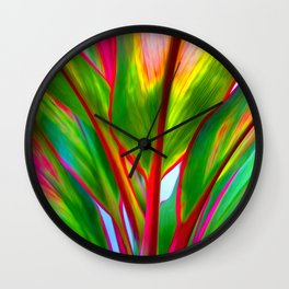 Ti Leaf Series #4 Wall Clock