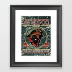 Dan Darepool: Insane Ninja-Merc of the Future Framed Art Print