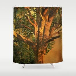 Tree Poem Shower Curtain