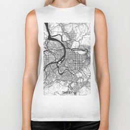 Taipei Map Gray Biker Tank