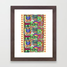 Ride a Rainbow Pony Framed Art Print