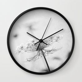 AFE Queen Anne's Lace BW Wall Clock
