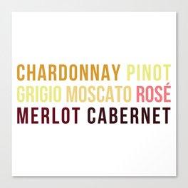 Wine Typography Spectrum Canvas Print