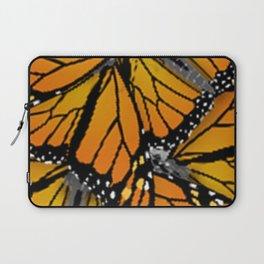 MONARCH BUTTERFLIES MONTAGE NATURE DESIGN Laptop Sleeve