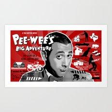 Pee-wee's big adventure Art Print
