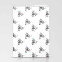 motorbike Stationery Cards featuring Motorbike by June Chang Studio