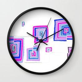 Permanent Line - White line Wall Clock