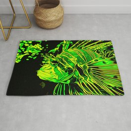 lionfish vector art green Rug