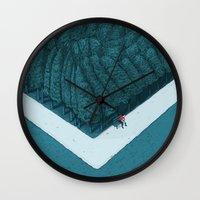 silent Wall Clocks featuring Blue Silent by Andrea Dalla Barba