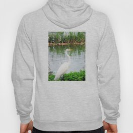 The Great White Egret:) (pointillism) | Large White Bird | Nature Photography Hoody