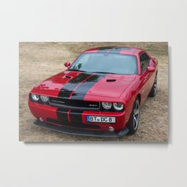 Red Challenger RT Hemi at the 5th US-Carshow, Germany color photograph / photography / poster Metal Print