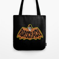 rorschach Tote Bags featuring Rorschach by Buby87